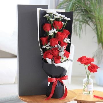 爱的味道-11朵红玫瑰礼盒