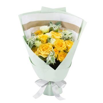 美丽的道歉-11朵黄玫瑰