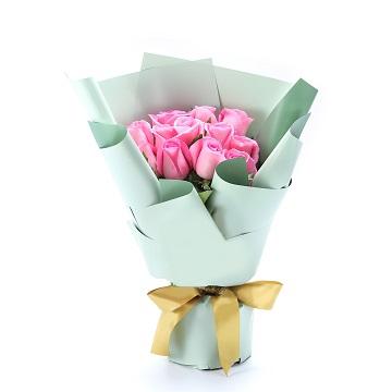 友谊永存-11朵苏醒粉玫瑰