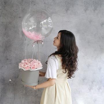 爱的抱抱-33朵粉玫瑰网红抱抱桶