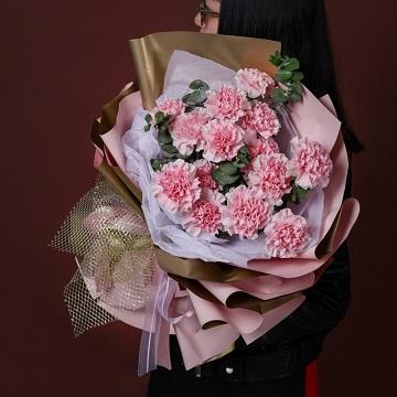 母爱-19支粉色康乃馨