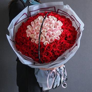 心动的感觉-99朵混色玫瑰
