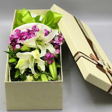 百合花花盒