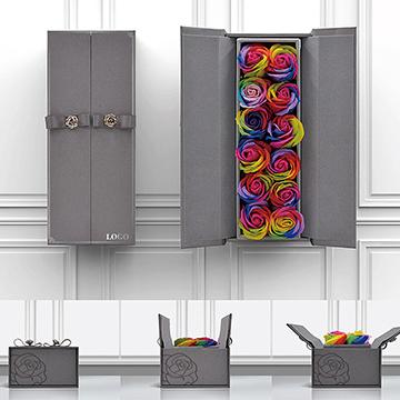 七彩玫瑰花盒