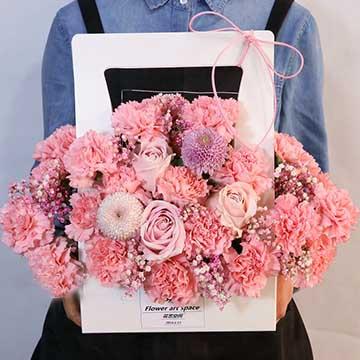康乃馨手提花盒