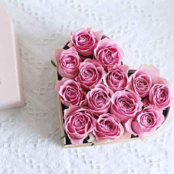 七夕心形玫瑰花
