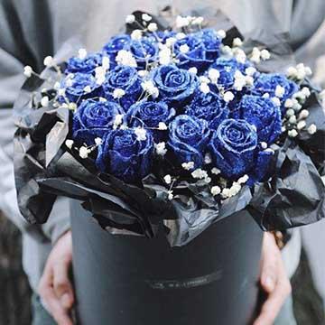 蓝色妖姬抱抱桶花