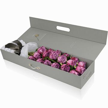紫玫瑰花盒