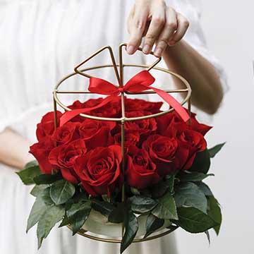 铁艺红玫瑰花