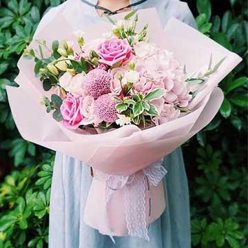 绣球花花束