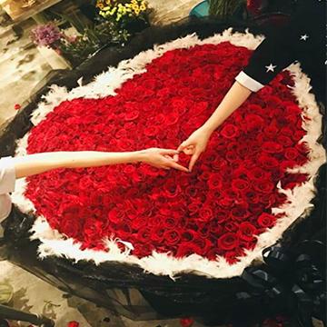 999朵心形红玫瑰