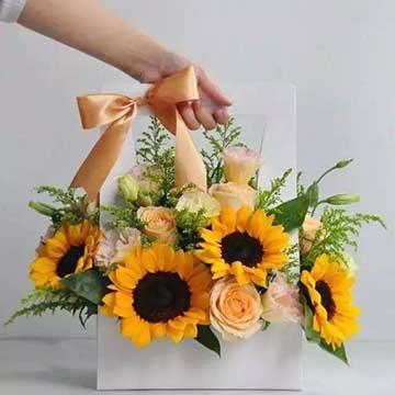 向日葵手提花盒
