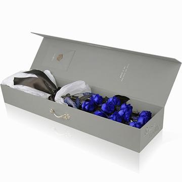 11朵蓝色妖姬花盒