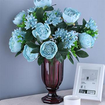 蓝玫瑰瓶花