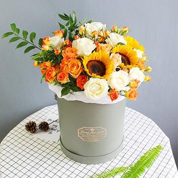向日葵花抱抱桶