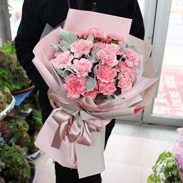粉色康乃馨花束
