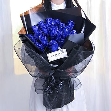 19朵蓝色妖姬