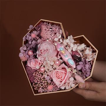 粉玫瑰永生花