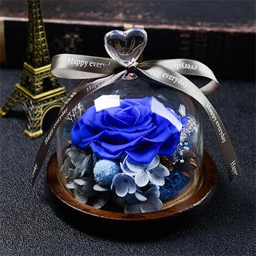蓝色妖姬永生花