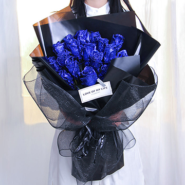 蓝色妖姬图片
