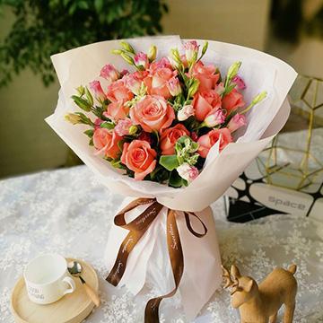 粉玫瑰花图片
