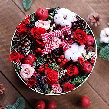 圣诞玫瑰花盒