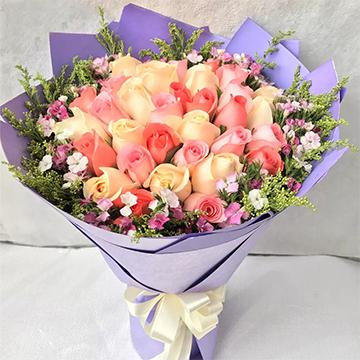 33朵混色玫瑰