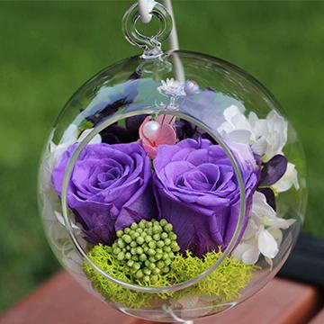 紫玫瑰永生花