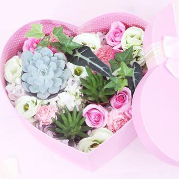 混搭心形玫瑰花盒