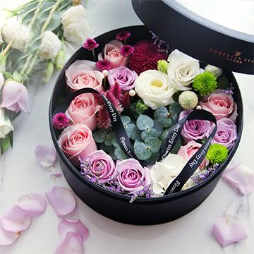 混搭玫瑰花盒