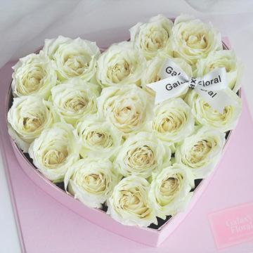 19朵白玫瑰