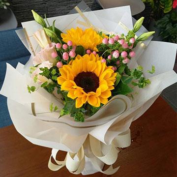 2朵向日葵花