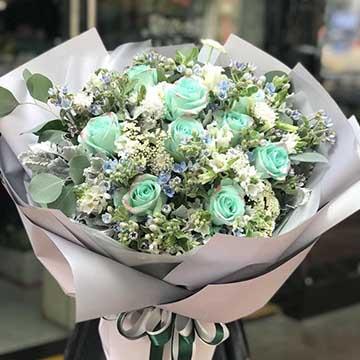 11朵绿玫瑰