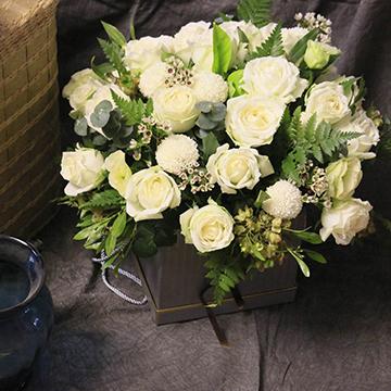 21朵白玫瑰