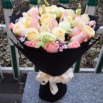 混色玫瑰花
