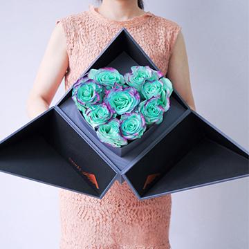9朵绿玫瑰