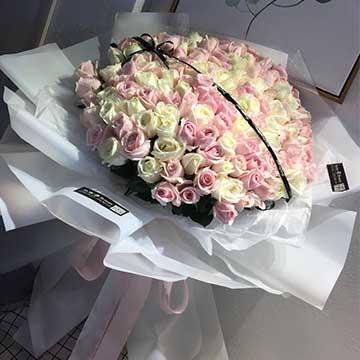 66朵混搭玫瑰花