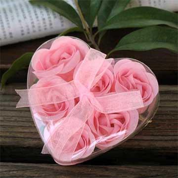 6朵粉玫瑰永生花