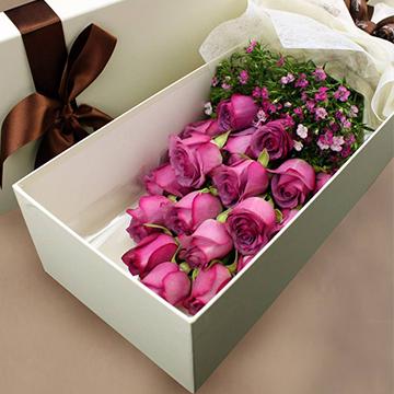 19朵紫玫瑰的花语