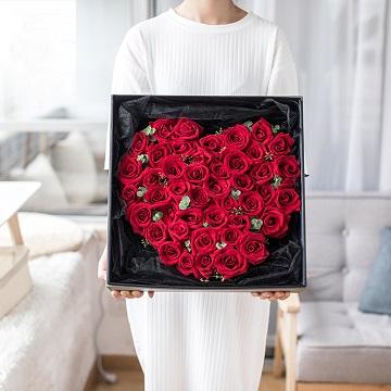 心形红玫瑰