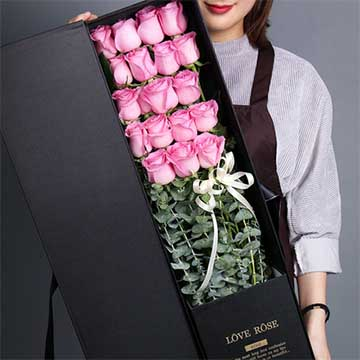 19朵粉玫瑰
