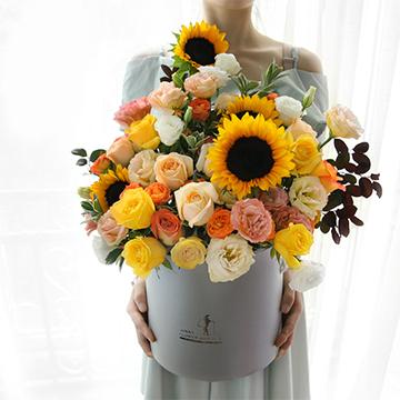 向日葵抱抱桶花