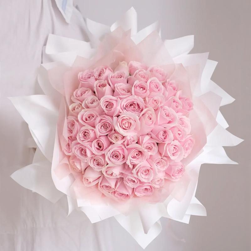 甜美公主-99朵粉玫瑰 成都网上预订鲜花哪家平台好_可不可以送货上门