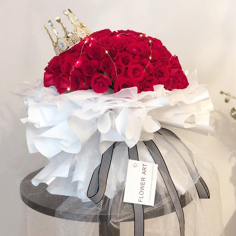 生生世世-99朵红玫瑰 同城鲜花速递哪个平台好?官方的*好