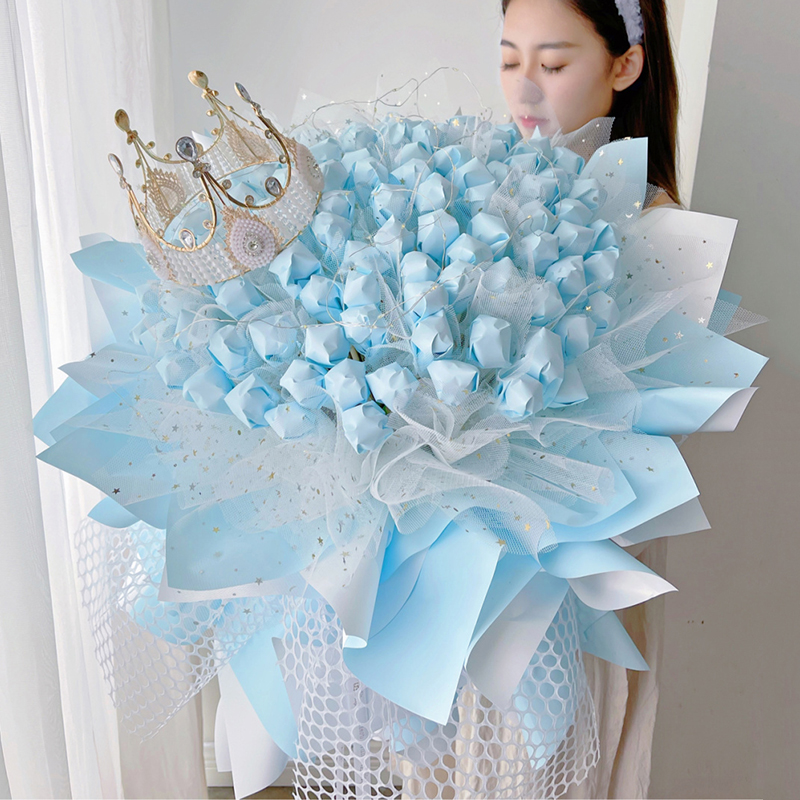 月光倾城-99颗创意棒棒糖花束 广州订花送花上门服务哪家好?鲜花礼品网比较靠谱的是哪家