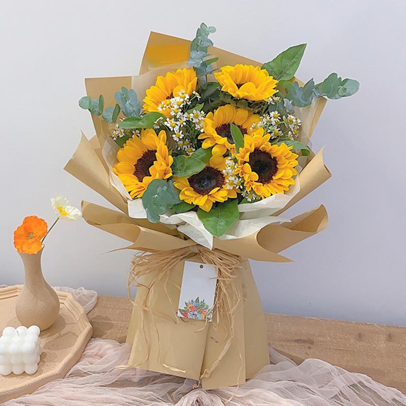 阳光心情-6朵向日葵花束 广州同城鲜花配送服务哪家好?十几岁女儿生日送花可以送什么
