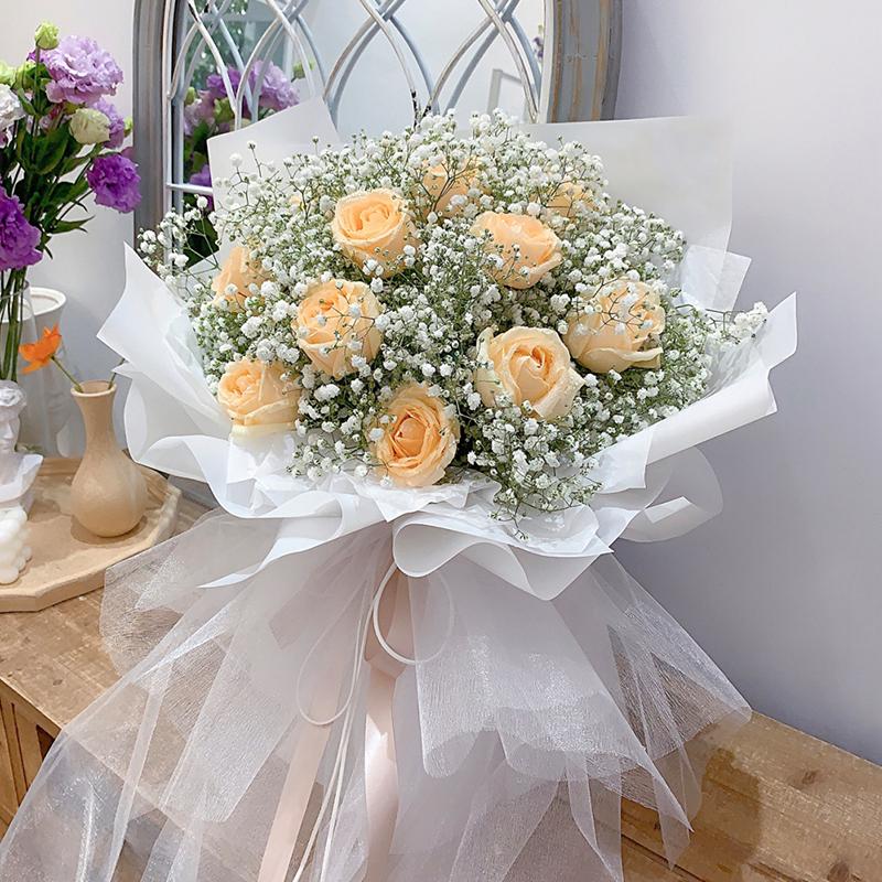 遇见你-11朵香槟玫瑰 给男朋友送什么生日礼物?上海订鲜花哪个网站好