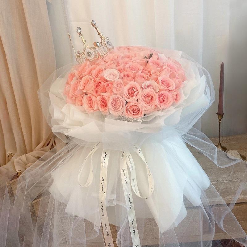 爱的呢喃-99朵粉玫瑰 女朋友生气送什么花好?南京网上订鲜花哪家好