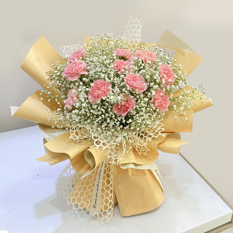 师恩难忘-11朵粉色康乃馨 哪些鲜花比较适合送给老师的呢?安顺网上鲜花预订去哪个app