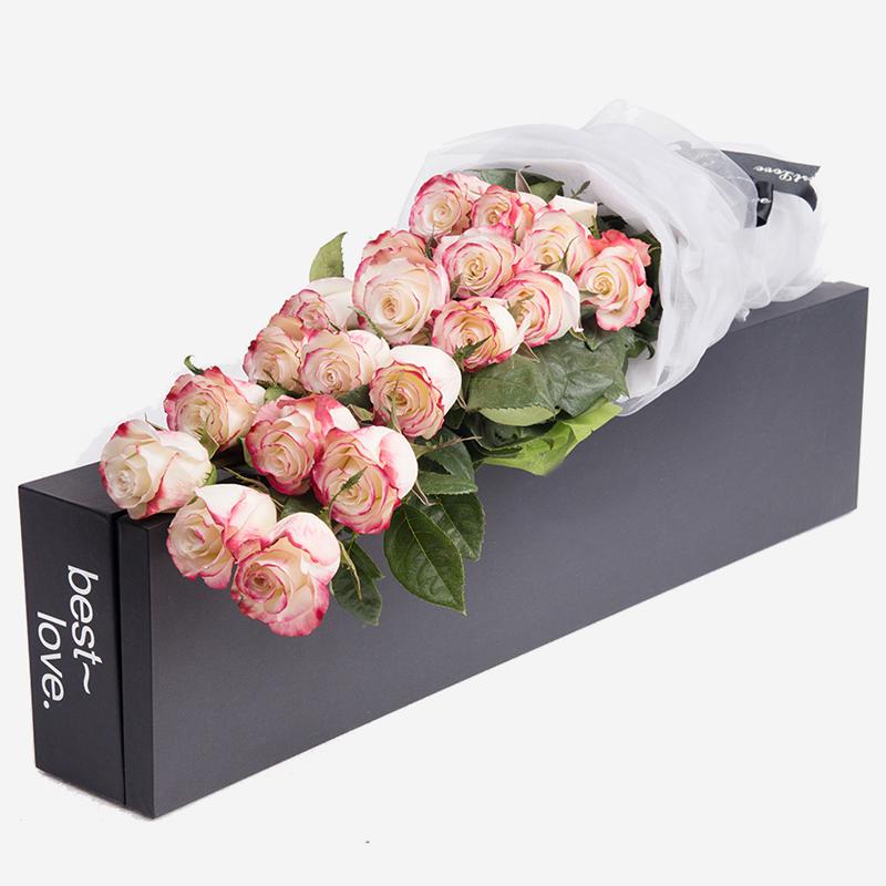 悦动你心-19朵厄瓜多尔甜心玫瑰 佛山网上订花哪一家鲜花app比较可靠?刚认识的女孩子适合送哪些礼物好